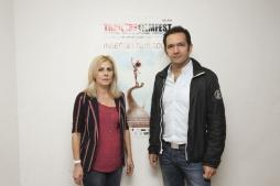 TFF 30.09.2015 Auditorium dei Benedettini Il direttore Artsitico Stefania Bianchi con Massimo Cipollina di Lightcut Film_phJessicaHauf