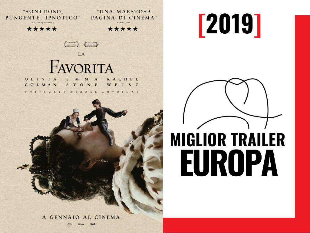 premio MIGLIOR TRAILER EUROPA 2019